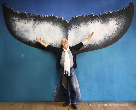 Philippe Lemonnier Collet devant La Queue de la Baleine.