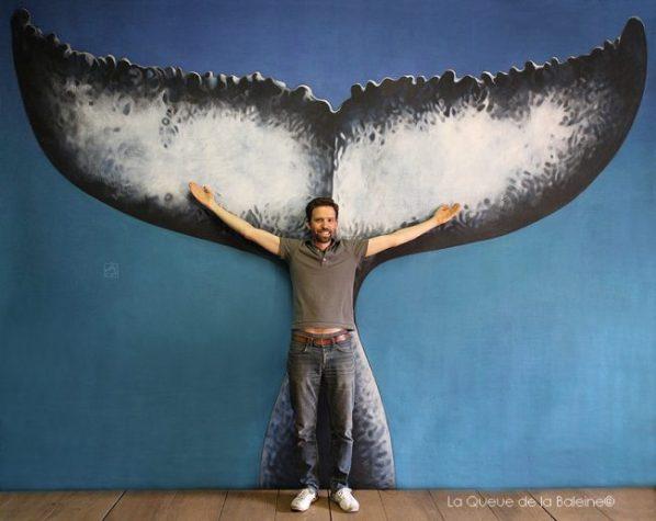 Thomas Toulemonde devant La Queue de la Baleine.
