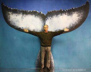 Jacques Chamberot devant La Queue de la Baleine.