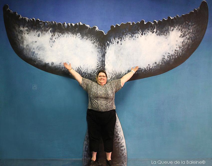 Brigitte Dauvergne avec La Queue de la Baleine.