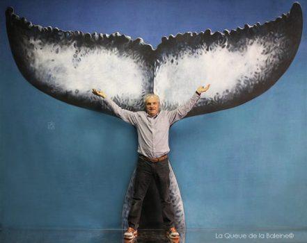 Olivier Roubertie devant La Queue de la Baleine.