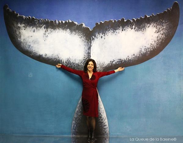 Petrucia Da Nobrega devant La Queue de la Baleine.