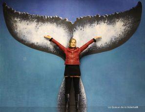 Dominique Lefévre devant La Queue de la Baleine.