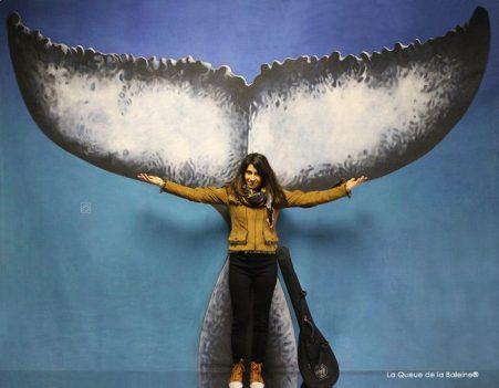 Eylem Cevik avec La Queue de la Baleine.
