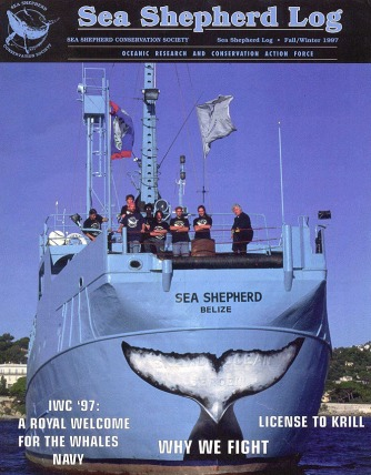 Couverture du Sea Shepherd Log.
