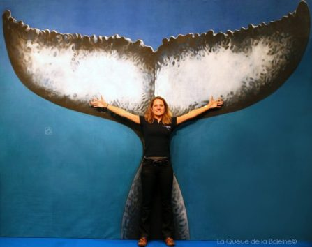 Solène Basthard, directrice chez Septentrion environnement, devant La Queue de la Baleine au FMISM à Marseille