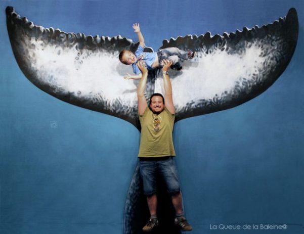 Aurélien et Abel Jamoneau devant La Queue de la Baleine au FMISM à Marseille