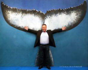 Didier Réault, président du Parc National des Calanques de Marseille, devant La Queue de la Baleine au FMISM à Marseille
