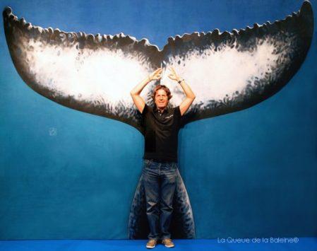 René Heuzey,devant La Queue de la Baleine au FMISM à Marseille