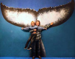 Fabrice et Titouan Merle devant La Queue de la Baleine au FMISM à Marseille