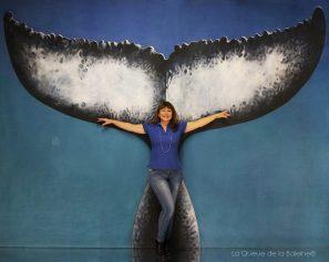 Véronique Würmli-Baudot avec La queue de la Baleine