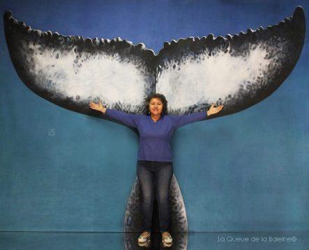 Isabelle avec La Queue de la Baleine