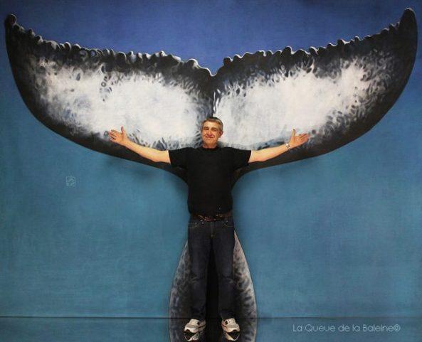 Stéphane avec La Queue de la Baleine