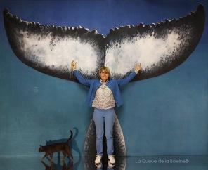 Michèle Montembault avec La queue de la Baleine en hommage à la nature.