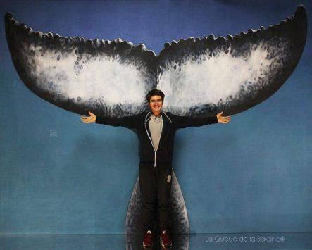 Jonas Bensmana avec La queue de la Baleine en hommage à la nature.