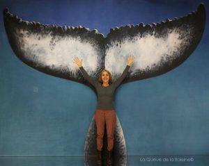Nathalie avec La Queue de la Baleine