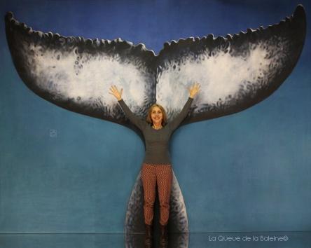 Nathalie Leca avec La queue de la Baleine en hommage à la nature.