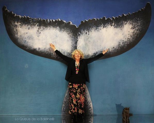 Isabelle Pineau Valencienne avec La queue de la Baleine en hommage à la nature.