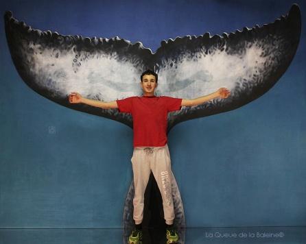 Mattéo Leca avec La Queue de la Baleine en hommage à la nature.