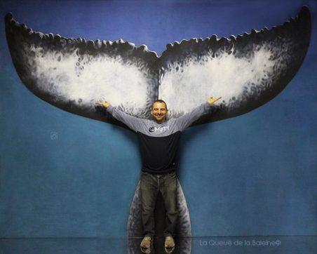 Michel Lamboley avec La Queue de la Baleine en hommage à la nature.
