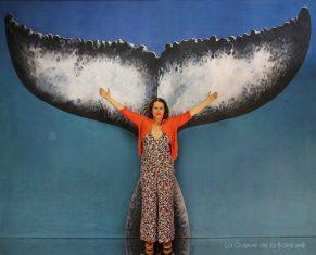 Valérie avec La Queue de la Baleine