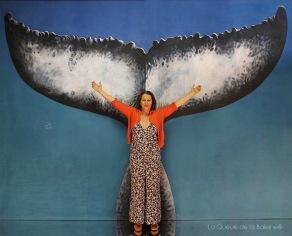 Valérie Steen avec La Queue de la Baleine en hommage à la nature.