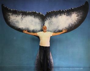 Richard Allouch avec La Queue de la Baleine en hommage à la nature.