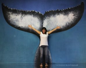 Elodie avec La Queue de la Baleine