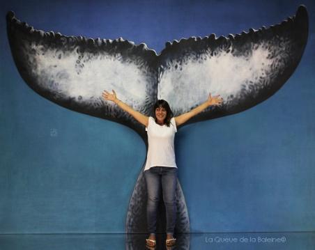 Elodie Lefevre avec La Queue de la Baleine en hommage à la nature.