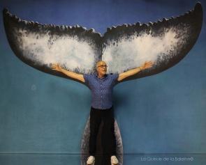 Patrick Garcia avec La Queue de la Baleine en hommage à la nature.