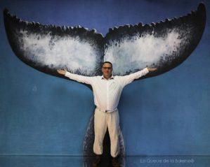 Frédéric avec La Queue de la Baleine