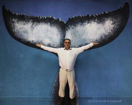 Frédéric Giuclaris avec La Queue de la Baleine en hommage à la nature.
