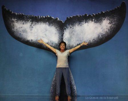 Anouck Serpaggi avec La Queue de la Baleine en hommage à la nature.