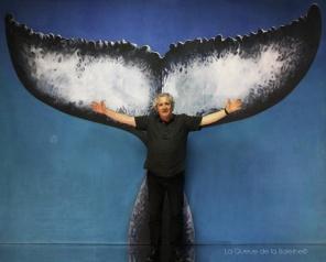 Marc Serpaggi avec La Queue de la Baleine en hommage à la nature.