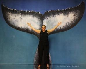 Cécile Boosz avec La Queue de la Baleine en hommage à la nature.