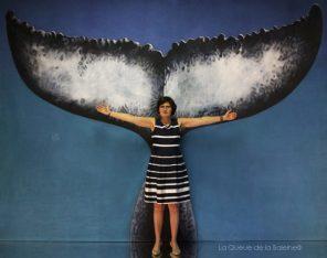 Sophie avec La Queue de la Baleine