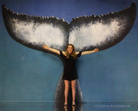 Solène avec La Queue de la Baleine