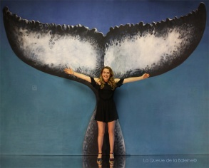 Solène Giuglaris avec La Queue de la Baleine en hommage à la nature.