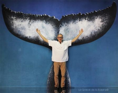 Patrick Frontezak avec La Queue de la Baleine en hommage à la nature.
