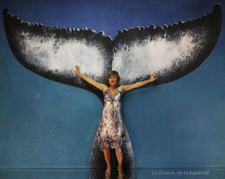 Brigitte avec La Queue de la Baleine