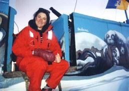 Malvina sur le Saint Laurent au Canada pour la campagne de protection des bébés phoques.