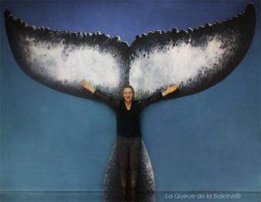 Edmée Moreau avec La Queue de la Baleine