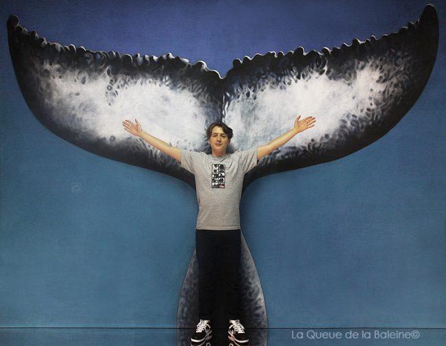 Louis Pradeau avec La Queue de la Baleine