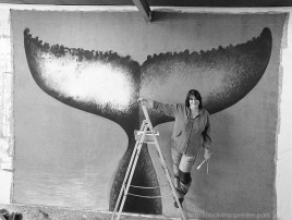 Malvina peint La Queue de la Baleine