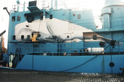 Malvina peint Moby Dick à Bremerhaven