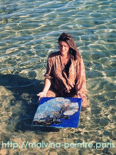 Peintre subaquatique