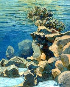 Lagon de Rangiroa en Polynésie Française.