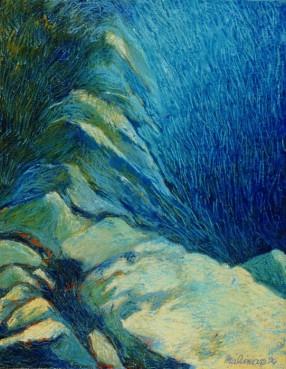 Paysage de roches à Port-Cros