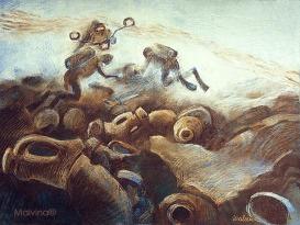 Travail des archéologues plongeurs