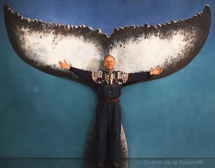 Vincent avec La queue de la Baleine
